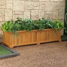 Outdoor Wall Planters by Garden Decor Wonderful Rectangular Wooden Outdoor Planter Boxes
