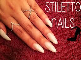 how to diy stiletto nails youtube