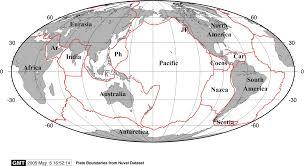 Tectonic Plate Map Earthbyte