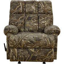 Rocking Chair Recliners Rocker Recliner Chair Rustic Camouflage Man Cave Cabin Furniture