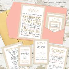 folded invitation what to put in your pocket wedding invitations jeneze designs