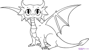 baby dragon coloring page free printable dragon coloring pages for