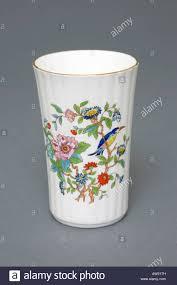 aynsley fine english bone china vase 18th century design stock