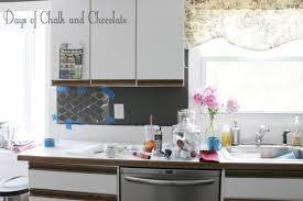 Wallpaper For Backsplash In Kitchen Easy Diy Self Adhesive Faux Tile Backsplash Days Of Chalk And