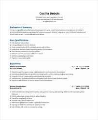 Resume For Nanny Job by Nanny Resume Template 5 Free Word Pdf Document Download Free