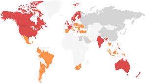 Map showing the most downloaded dating apps by country in