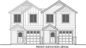 House Plans 2 Story duplex house plans narrow duplex house plans d 542