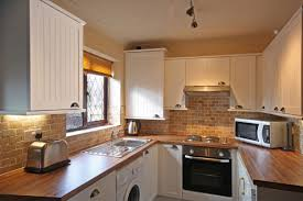 Ideas For A Small Kitchen Space by Kitchen Nice Cabinets Model Closed Brick Backsplash Tile Closed