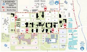 Colorado State University Map by Cu Anschutz Medical Campus Rail Shuttle Facilities Management