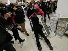 best deals for tv on black friday black friday fights break out after shoppers queue all night for