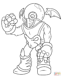 skylanders giants eye brawl coloring page free printable