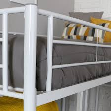 Loft Shelving by Amazon Com We Furniture Twin Low Loft Metal Bed White Kitchen