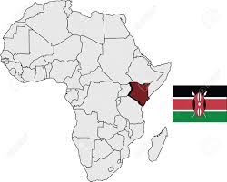 Map Of Kenya Africa by Kenya Map And Flag With Africa Continent Map Royalty Free Cliparts