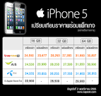 iPhone 5 AIS, True และ Dtac เปิดให้จอง iPhone 5 แล้ว