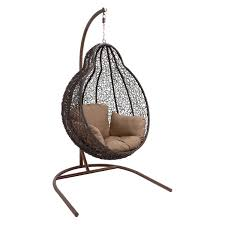 decmode pear shaped iron swing chair jet com