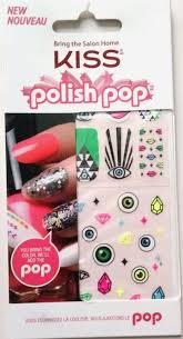 kiss polish pop nail art design accent stickers dmt96 neon eyes