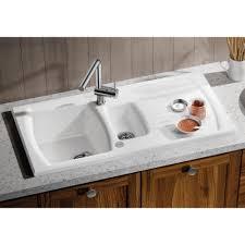 Blanco Setura  S Ceramic Xmm Universal  Bowl Crystal - Ceramic white kitchen sink