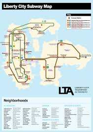 Mta Info Subway Map by Liberty City Nyc Subway Map Other Maps Nyc Transit Forums