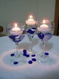 Purple Floating Candles For Centerpieces by Blue And Yellow Wedding Centerpieces Valentine U0027s Blog Wedding