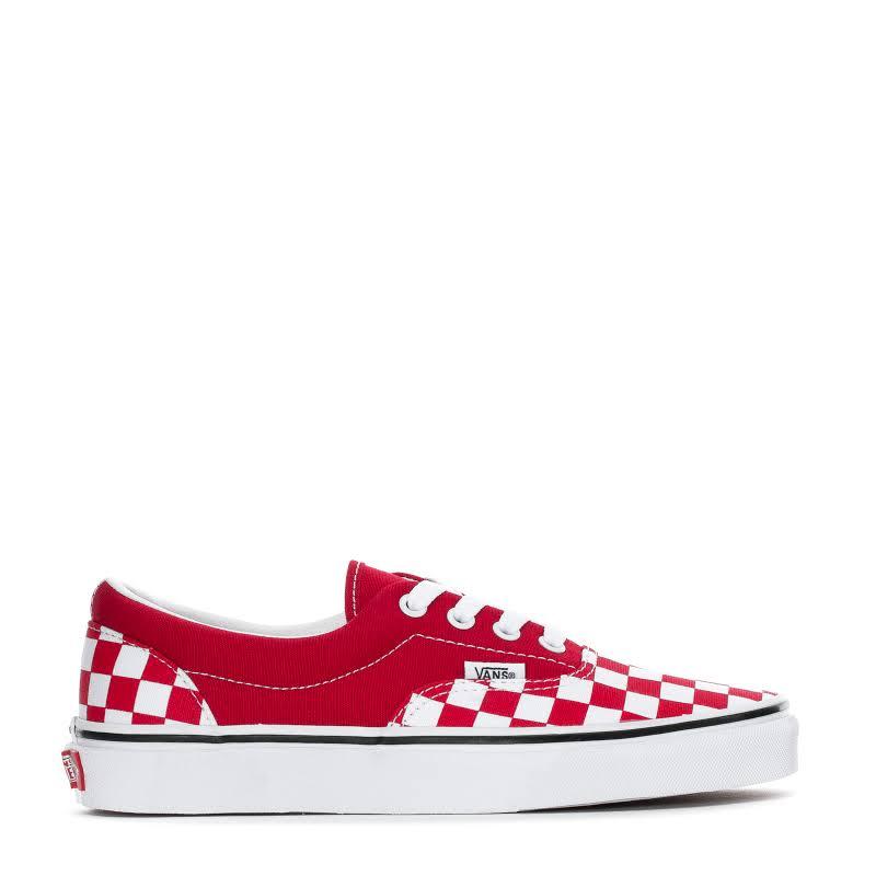Vans Era (Checkerboard Racing Red/True White) Skate Shoes-5.5