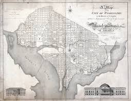 Washington Dc Usa Map by Large Scale Detailed Old Map Of The City Of Washington In The