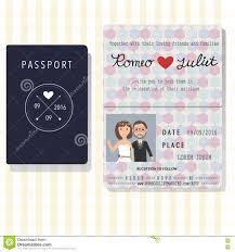 Sport Invitation Card Passport Design Wedding Invitation Cards With Bride And Groom