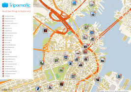 Map Of Boston Neighborhoods by Free Printable Map Of Boston Ma Attractions Free Tourist Maps