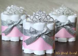 princess baby shower diaper cake little princess pink and