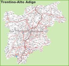 Italy Region Map by Trentino Alto Adige Maps Italy Maps Of Trentino Alto Adige