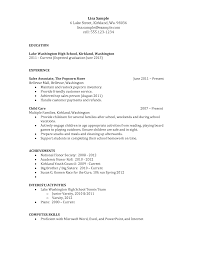 Good High School Resume  examples of resume for college       loi samples