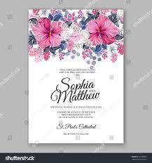 Printable Invitation Card Stock Hibiscus Wedding Invitation Card Printable Template Stock Vector
