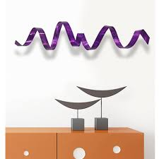 amazon com abstract purple metal wall sculpture contemporary