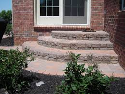 Brick Paver Patterns For Patios by Backdoor Brick Paver Steps Steps And Stairs Pinterest Brick