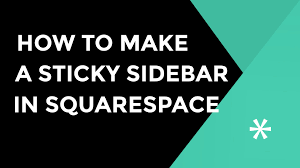 Squarespace by How To Make A Sticky Sidebar In Squarespace Using Jquery Youtube