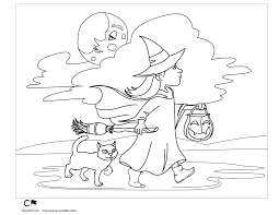 little witch halloween coloring page clipart fort