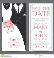 Invitation Card Of Wedding Bride And Groom Wedding Invitation Card Stock Vector Image 65701969