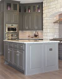 Molding On Kitchen Cabinets Gray Kitchen Cabinets Burrows Cabinets Central Texas Builder