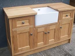 Small Oak Kitchen Base Cabinets For Rustic Or Country Kitchen - Kitchen sink cupboards