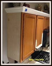 Kitchen Cabinet Cornice by Installing Crown Molding On Kitchen Cabinets Hbe Kitchen