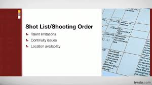 Movie Shot List Template Site Surveys Tutorial Creating A Shot List And Shooting Order