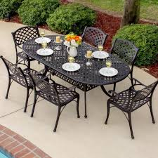 Black Wrought Iron Patio Furniture Sets by Outdoor U0026 Garden Mesmerizing Cast Iron Patio Dining Set Ideas For