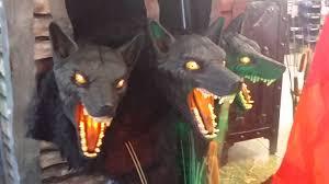 spirit halloween 2015 cerberus 3 headed dog looks like werewolf