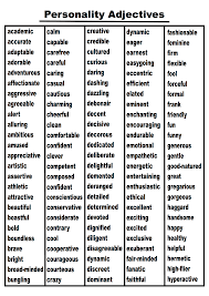descriptive words for resume writing download a classroom ready 300 word personality adjectives list adjective words