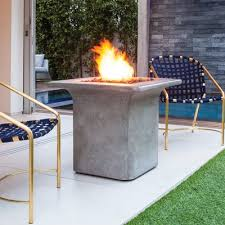 Brown Jordan Fire Pit by Bjfs Strata Stainless Steel Gas Fire Pit Table Wayfair Ca