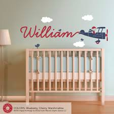 airplane name wall decal boy skywriter for baby nursery children airplane name wall decal boy skywriter for baby nursery children