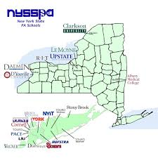 New York State Map by Ny State Pa Programs New York State Society Of Physician Assistants