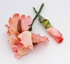 Floral Arrangement Supplies by Coral Bearded Iris Artificial Silk Flower Stem Wedding Bouquet