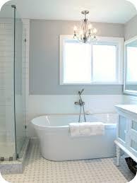 bathroom fascinating retro white bathtub with classy pendant lamp