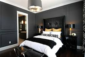 Bold Bedroom Color Ideas With Black And White Accents Interior - Bedroom color