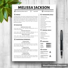 Resume Template For Mac Pages 100 Modern Cv Template Word Free 78 Word Resume Templates